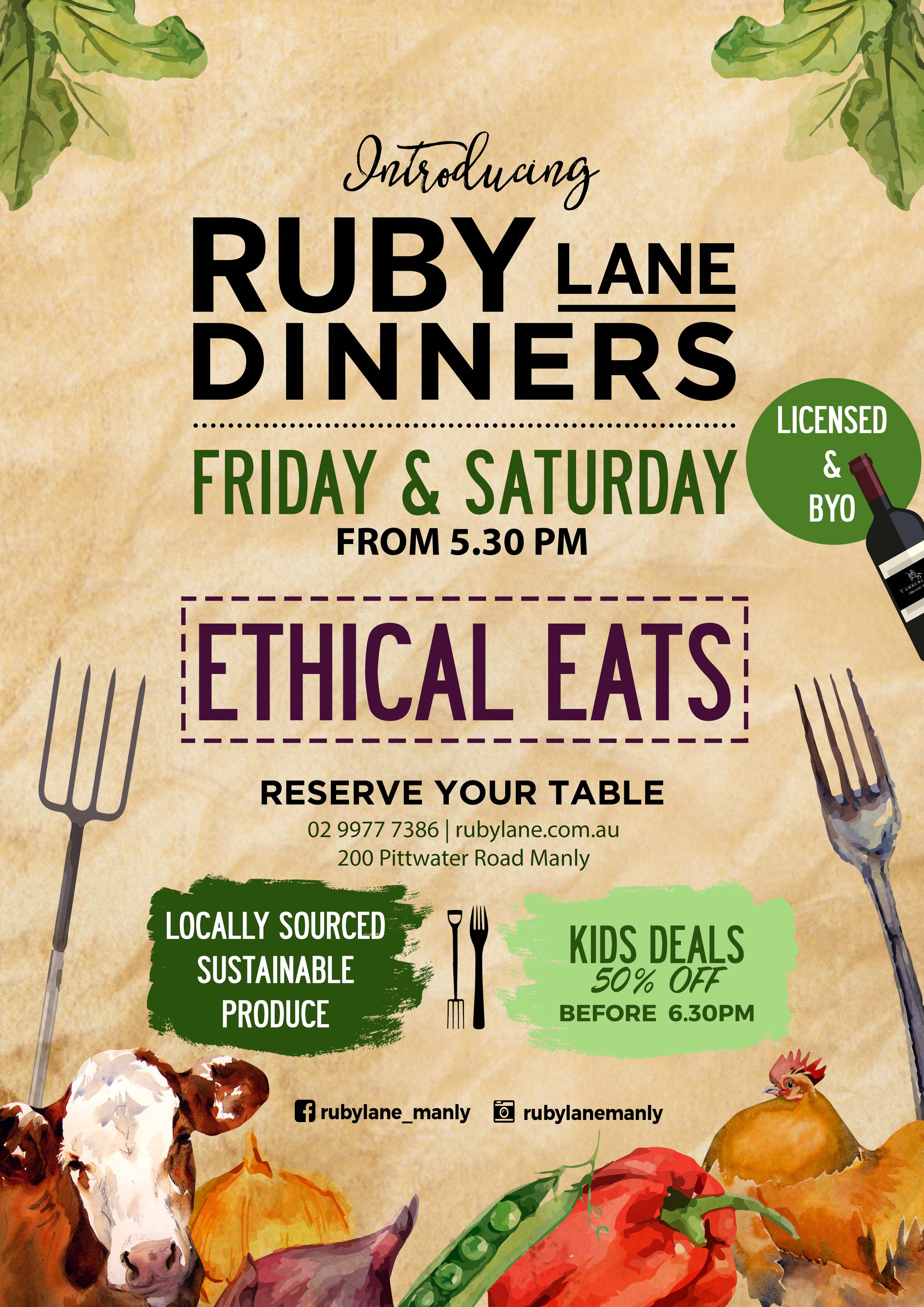 ETHICAL EATS by RUBY LANE MANLY